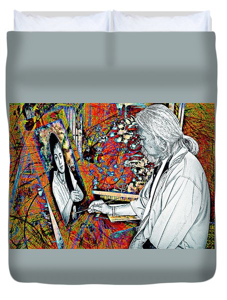 Artist In Abstract Duvet Cover
