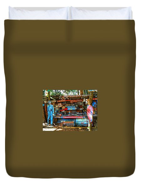 Artist Shop In Bluffton, South Carolina Duvet Cover