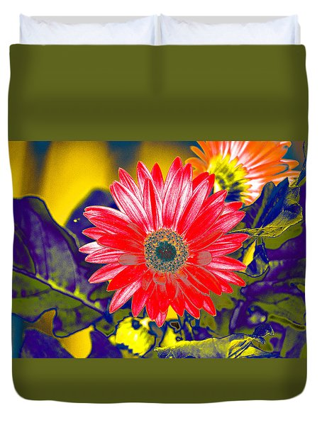 Artistic Bloom - Pla227 Duvet Cover by G L Sarti