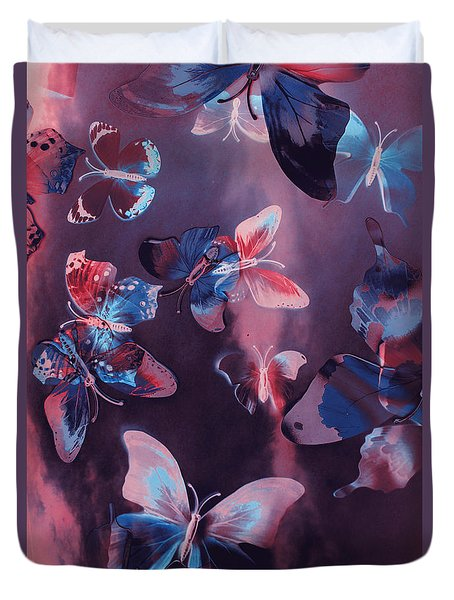Artistic Colorful Butterfly Design Duvet Cover