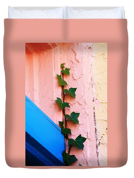 Duvet Cover featuring the photograph Artistic Design In The Paseo by Toni Hopper