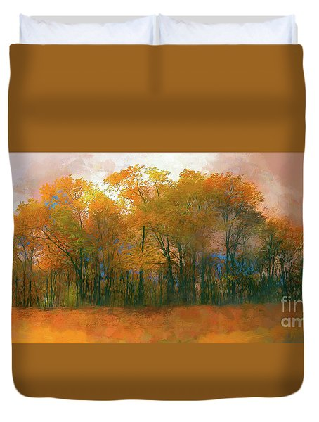 Artistic Fall Colors In The Blue Ridge Ap Duvet Cover by Dan Carmichael