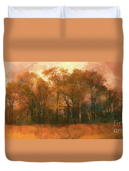 Artistic Fall Colors In The Blue Ridge Fx Duvet Cover
