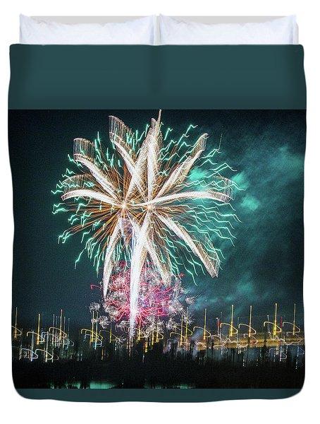 Artistic Fireworks Duvet Cover