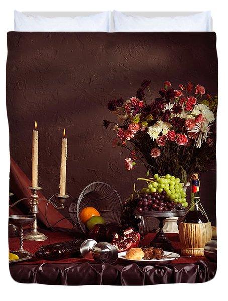 Artistic Food Still Life Duvet Cover by Oleksiy Maksymenko
