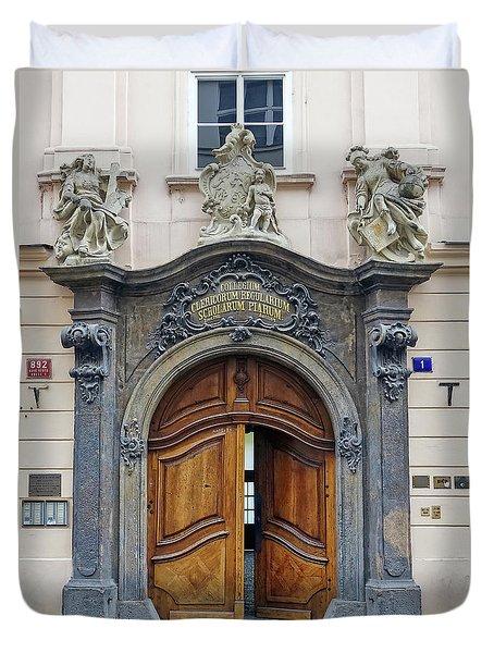 Artistic Ornate Door In Prague Duvet Cover