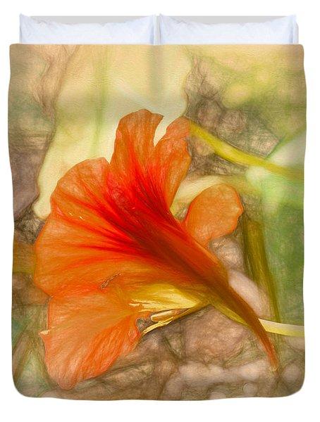 Artistic Red And Orange Duvet Cover