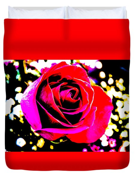 Artistic Rose - 9161 Duvet Cover by G L Sarti