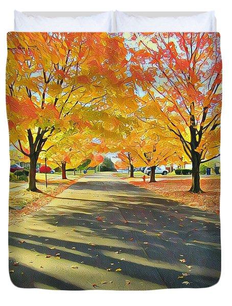 Artistic Tulsa Street Duvet Cover