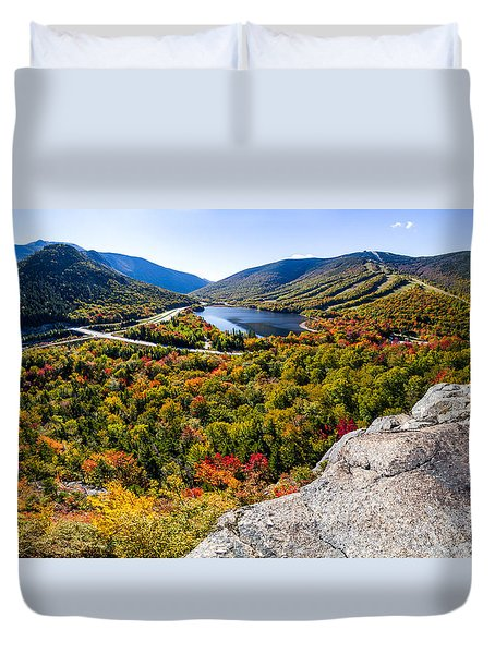 Artists Bluff, Franconia Notch Duvet Cover