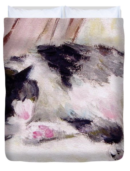 Artist's Cat Sleeping Duvet Cover