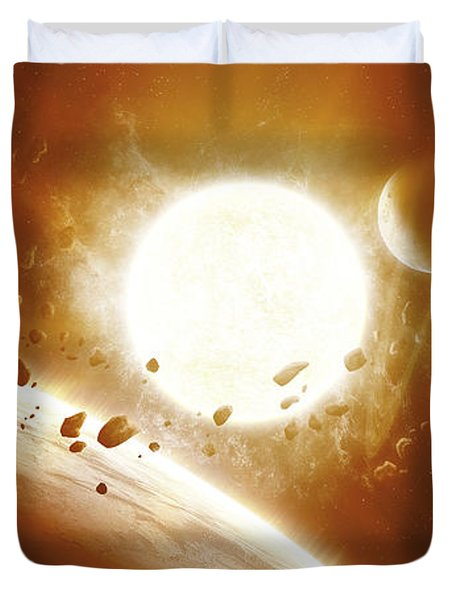 Artists Concept Of 51 Pegasi Duvet Cover by Kevin Lafin