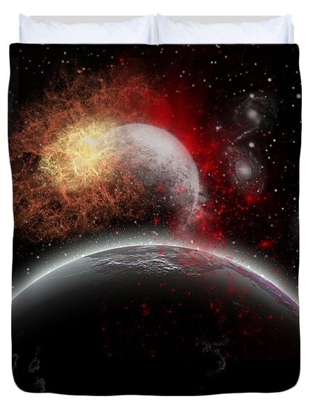 Artists Concept Of Cosmic Contrast Duvet Cover