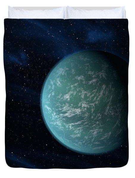 Artists Concept Of Kepler 22b, An Duvet Cover by Stocktrek Images