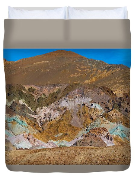 Artists Palette At Death Valley Duvet Cover