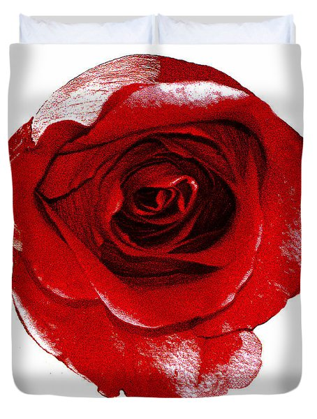 Artpaintedredrose Duvet Cover