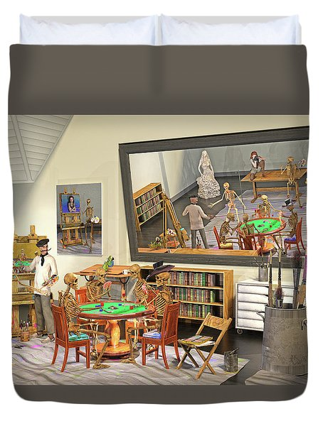 Arts And Sciences The Curious Art Studio Duvet Cover