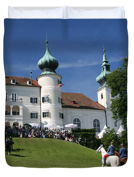 Artstetten Castle In June Duvet Cover