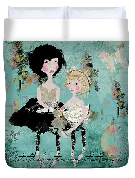 Artsy Girls Duvet Cover by Diana Boyd