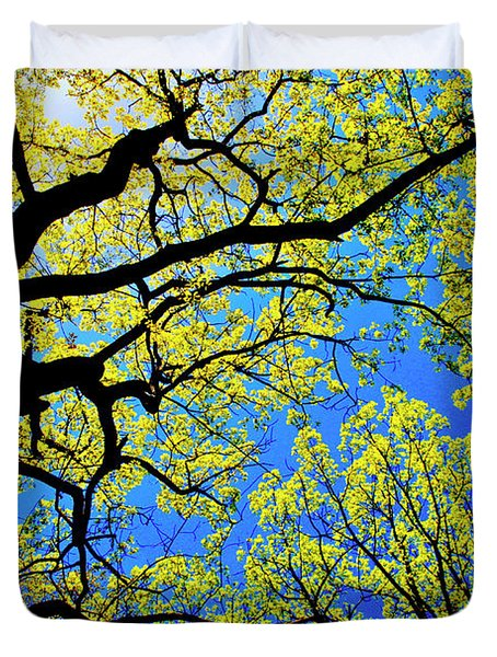 Artsy Tree Canopy Series, Early Spring - # 01 Duvet Cover