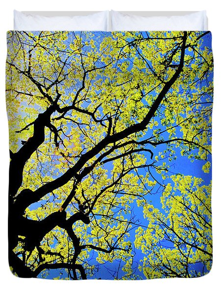 Artsy Tree Canopy Series, Early Spring - # 02 Duvet Cover