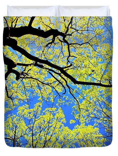 Artsy Tree Canopy Series, Early Spring - # 03 Duvet Cover