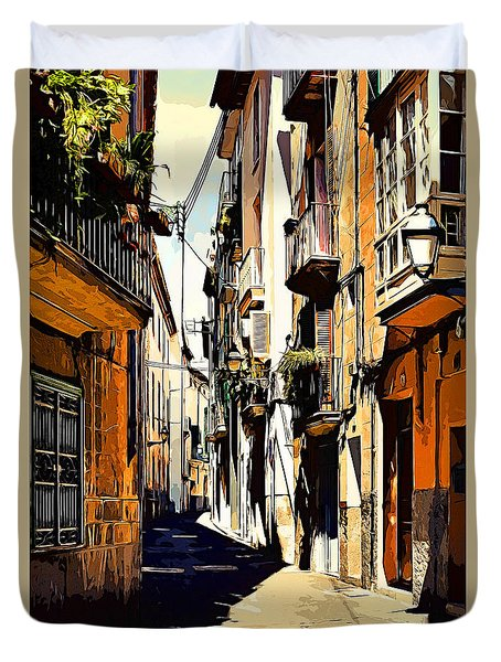 Artwork Palma De Mallorca Spain Duvet Cover