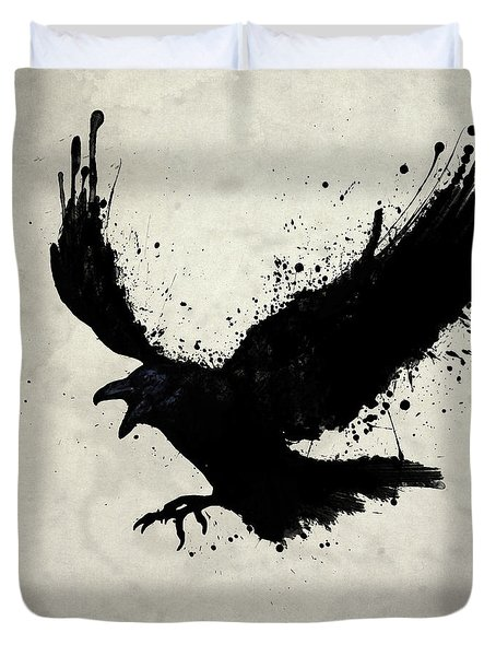 Raven Duvet Cover by Nicklas Gustafsson