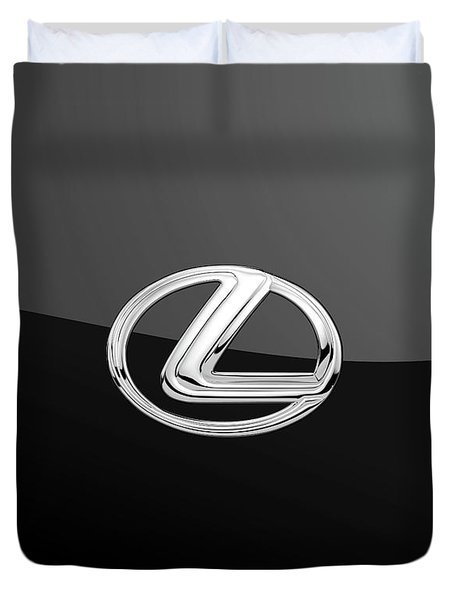 Lexus - 3d Badge On Black Duvet Cover
