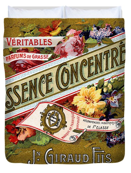 1915 Essence Concentree French Perfume Duvet Cover