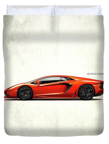 Lamborghini Aventador Duvet Cover by Mark Rogan