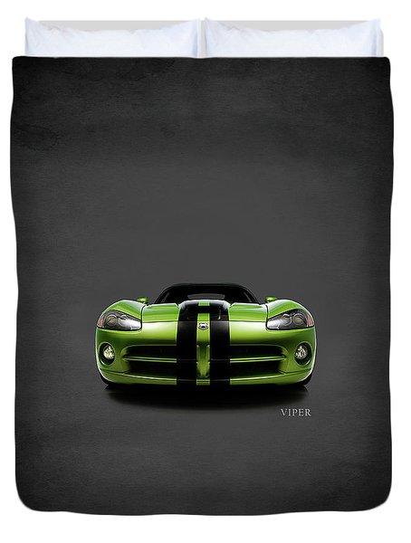 Dodge Viper Duvet Cover by Mark Rogan