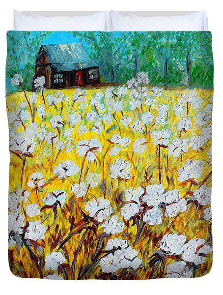 Cotton Fields Back Home Duvet Cover