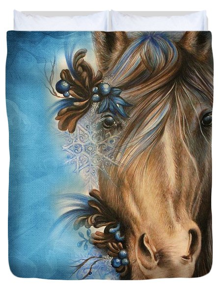 Pretty Blue Duvet Cover by Sheena Pike