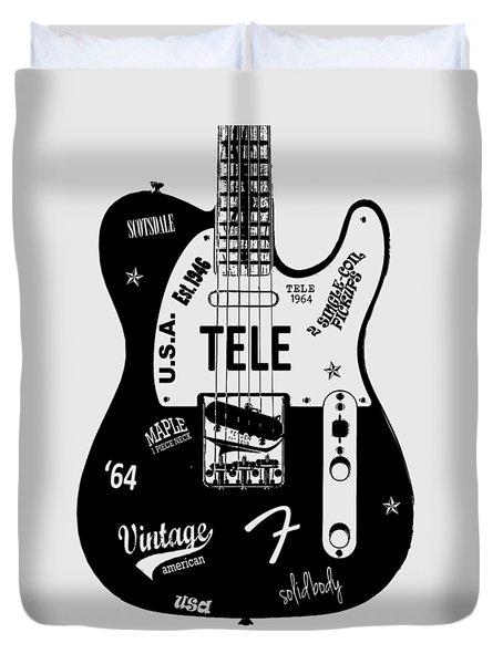 Fender Telecaster 64 Duvet Cover by Mark Rogan