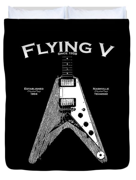 Gibson Flying V Duvet Cover