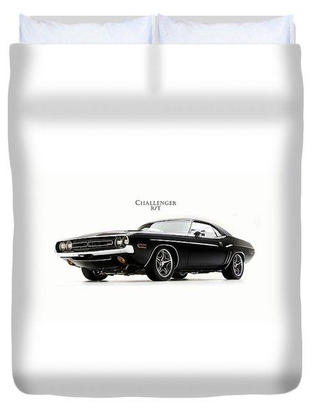 Dodge Challenger Duvet Cover by Mark Rogan