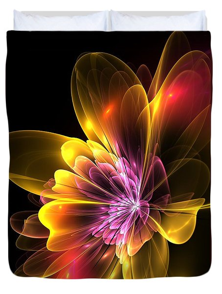 Fire Flower Duvet Cover by Svetlana Nikolova