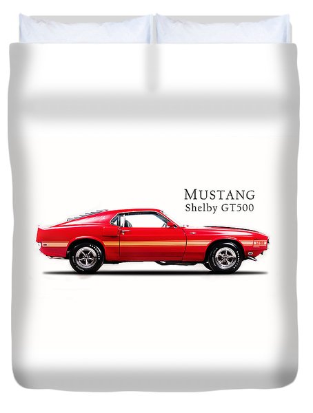 Ford Mustang Shelby Gt500 1969 Duvet Cover by Mark Rogan