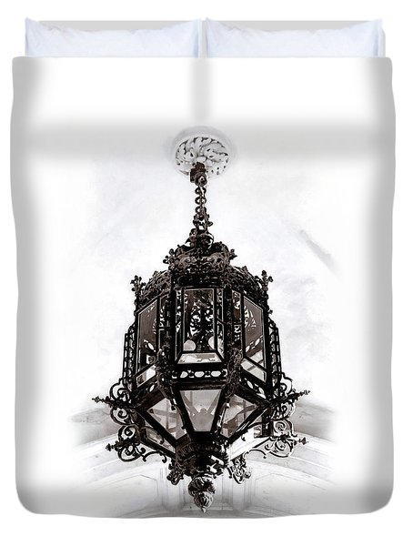 Ornate Wrought-iron Entrance Lantern Habsburg Vienna Duvet Cover
