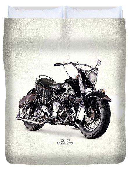 Indian Chief Roadmaster 1953 Duvet Cover