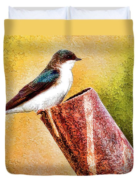 Male Tree Swallow No. 2 Duvet Cover