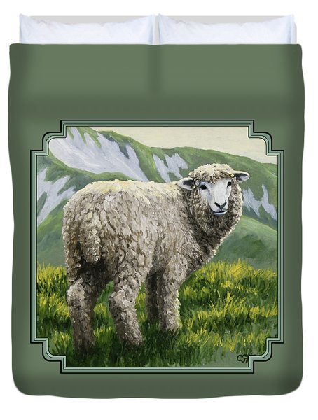 Highland Ewe Duvet Cover by Crista Forest