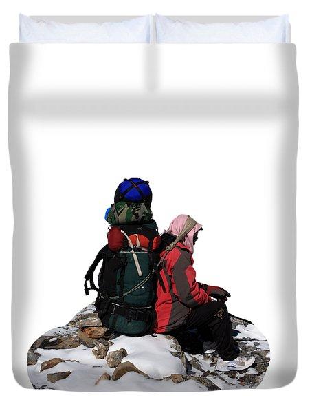 Himalayan Porter, Nepal Duvet Cover
