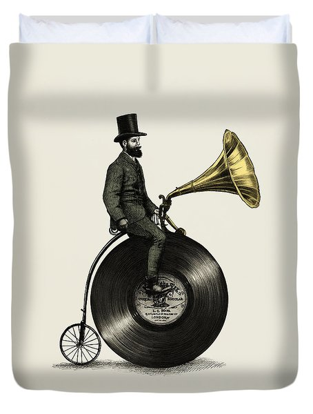 Music Man Duvet Cover by Eric Fan