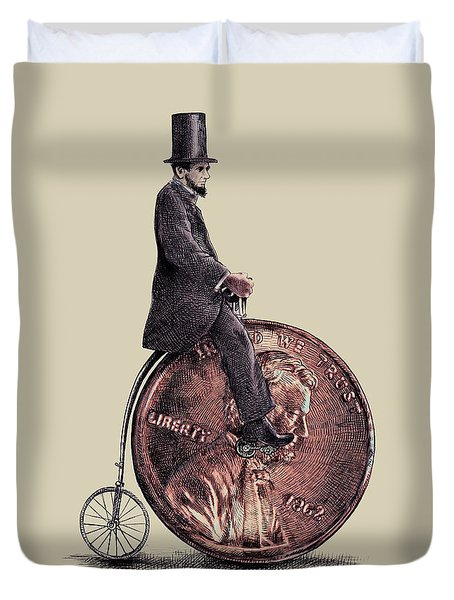 Penny Farthing Duvet Cover by Eric Fan