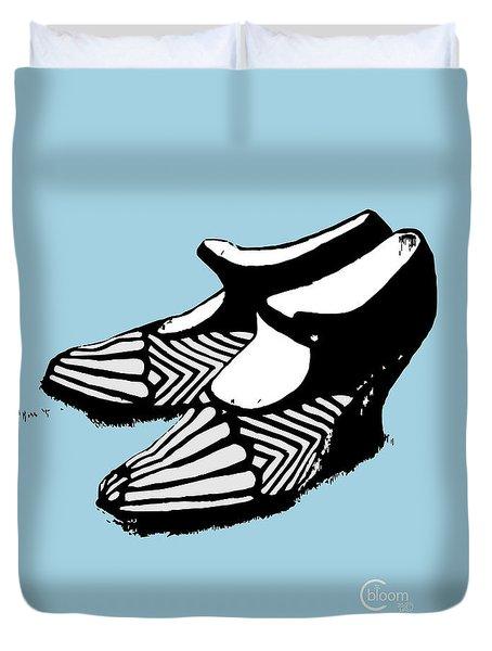 Zeldas Party 1920 Flapper Shoes...robins Egg Blue Duvet Cover