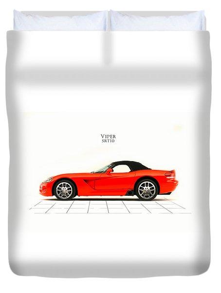 Dodge Viper Srt10 Duvet Cover by Mark Rogan