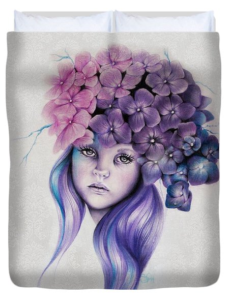 Hydrangea Duvet Cover by Sheena Pike
