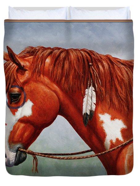 Native American War Horse Duvet Cover